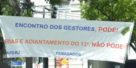 Trabalhadores da Dataprev no Rio de Janeiro realizam ato contra arrocho